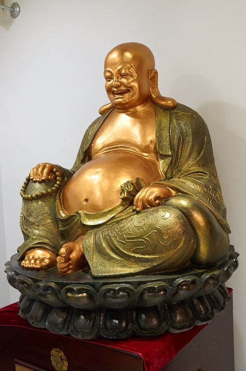 《大肚弥勒佛》佛像铜雕塑/现货