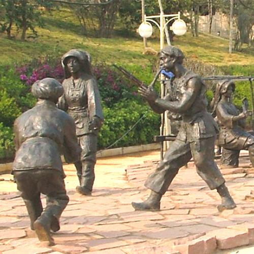 云南永德县俐侎人大型人物铜像工程|旅游景点雕塑定制