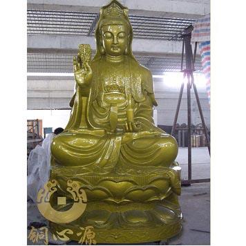 辽宁灵山寺五尊5米佛像