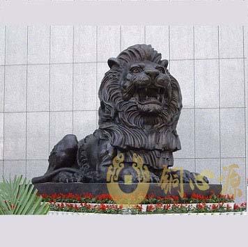 呼和浩特人民银行分行特大号汇丰狮铜狮