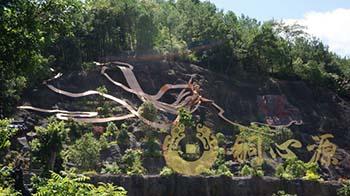 广东梅州客天下文化产业园《飞天观音》景点铜雕