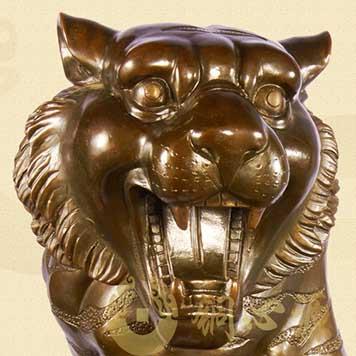 动物瑞兽雕塑-铜虎