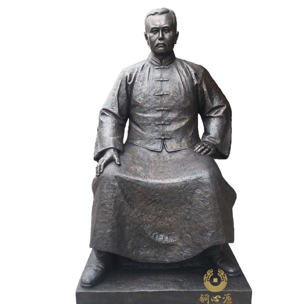 """武汉辛亥革命纪念园""""范熙壬""""铜像"""