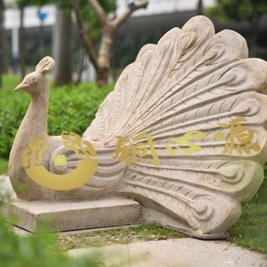 孔雀砂岩雕塑