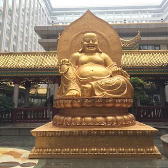 长沙万家丽国际广场弥勒佛铜佛像