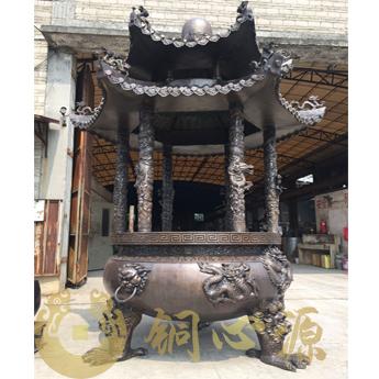 安徽省池州市九华山铜香炉