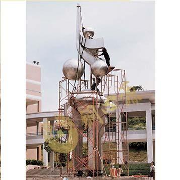 广东中山一中不锈钢雕塑 高16米