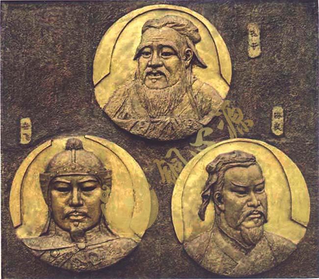 深圳历史人物铜浮雕