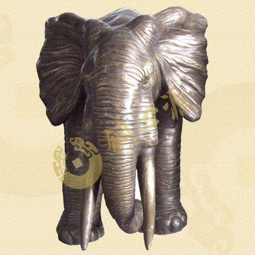 动物瑞兽雕塑-铜象