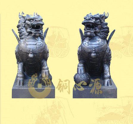 铜麒麟雕塑