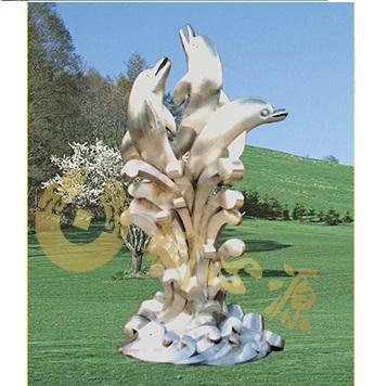 深圳 海豚不锈钢雕塑 高6米