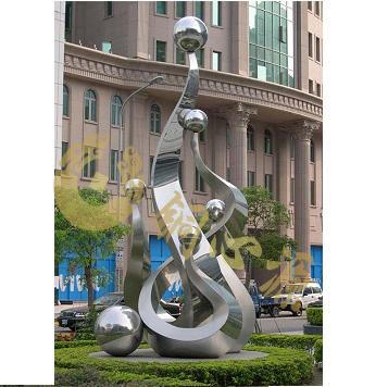 不锈钢雕塑 高14米