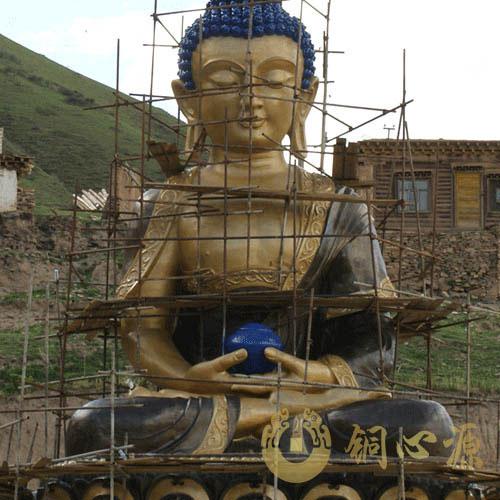 青海16米释迦迦牟尼铜佛像