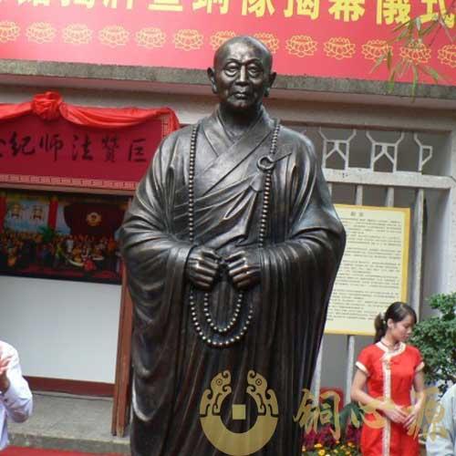 广西龙华寺佛教领袖巨赞法师人物铜像工程
