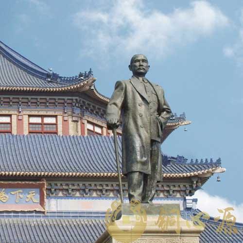 广州孙中山纪念堂孙中山伟人铜像