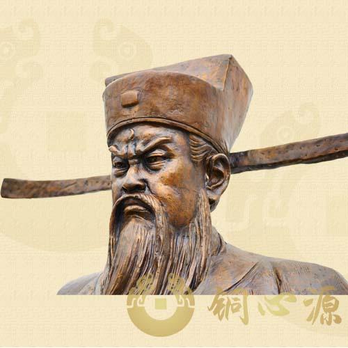 开平廉政基地清官铸铜人物铜像|人物半身像