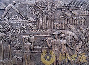 东莞路东镇铜浮雕