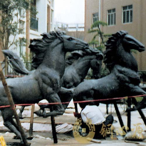 湖南长沙《八骏马》动物雕塑群|马雕塑