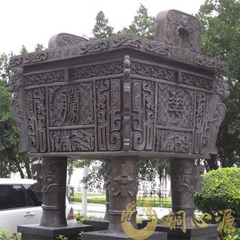 珠海庆华酒店大型铜方鼎工程
