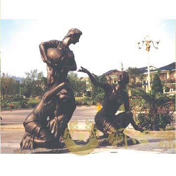 北京玫瑰园雕塑