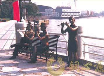 广州富力半岛 奏乐|小区雕塑|房地产雕塑|景观雕塑