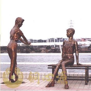 广州富力半岛闺蜜铜雕|小区雕塑|园林雕塑|花园雕塑