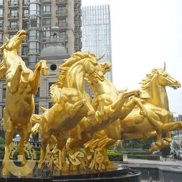 广州帝景苑地产铜雕塑工程:阿波罗战