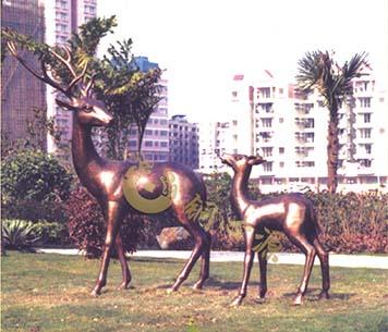 梅花鹿|广场雕塑|公园景观雕塑|动物雕塑