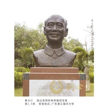 广东湛江海洋大学 熊大仁人物半身像