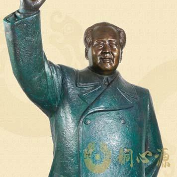 毛泽东挥手铜像