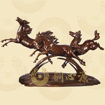 动物瑞兽雕塑-跃马长啸