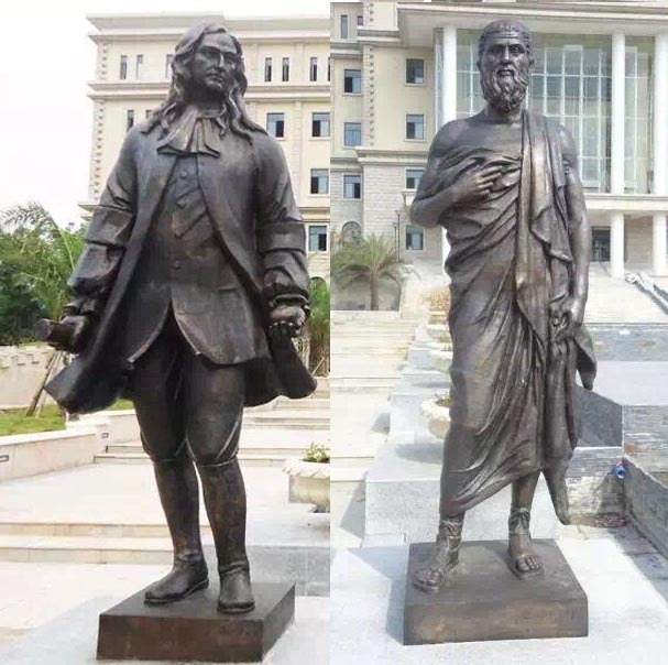 海南三亚学院名人园大型铜雕工程