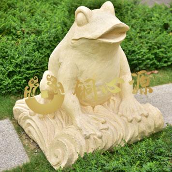 青蛙砂岩雕塑