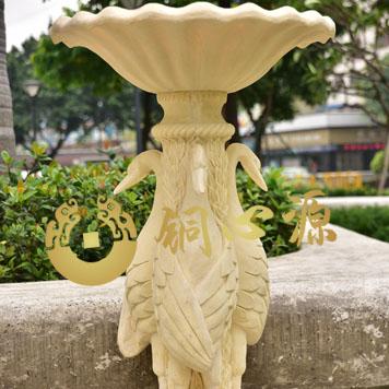 三天鹅花盆底座砂岩雕塑