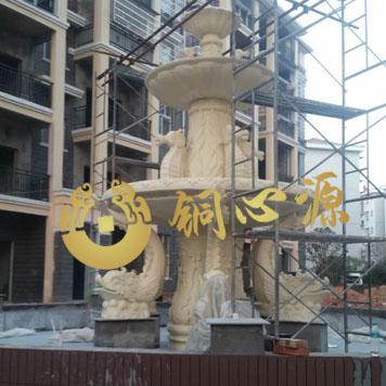 房地产喷水池砂岩雕塑