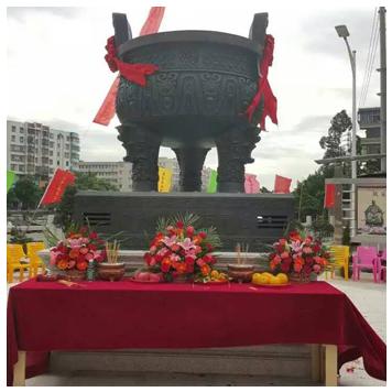 广东开平余靖祠堂高2.5米《风采》青铜鼎工程