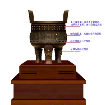 山东润华集团《百年润华》铜鼎