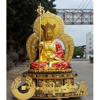 江苏5米高地藏王菩萨金身彩绘铜佛像
