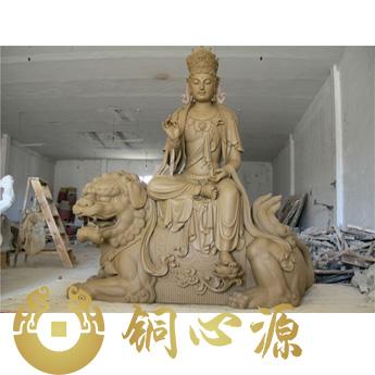 文殊普贤铜佛像