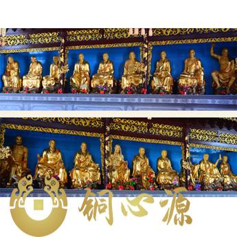 《十八罗汉》佛像铜雕塑/工程订制